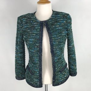 St. John's Couture cardigan padded shoulder sz 4